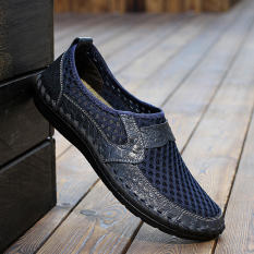 Jual Pria Fashion Sepatu Kets Sepatu Keren Sepatu Sebab Kaki Biru Tiongkok