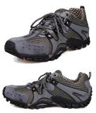 Perbandingan Harga Pria Fashion Sneakers Sepatu Bernapas Mesh Leather Outdoor Olahraga Hiking Sepatu Kasual Menjalankan Sepatu Abu Abu Intl Di Tiongkok