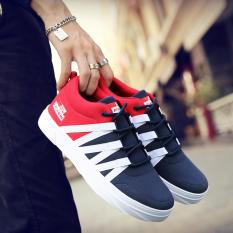 Beli Men S Fashion Sports Casual Running Shoes Red Intl Online Tiongkok