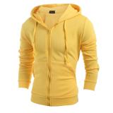 Review Mode Baju Man S Olahraga Solidcolor Ritsleting Jaket Keringat Rak Kuning