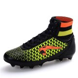 Jual Beli Sepatu Bola Pria Rumput Kolam Bermutu Tinggi Paku Sepatu Kulit Tahan Air Tahan Air Cleat Sepatu Olahraga Hitam International Tiongkok