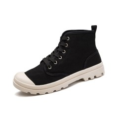 Promo Mens High Top Military Ankle Boots Canvas Casual Shoes Men Casual Shoes Intl Tiongkok