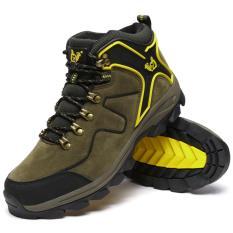 Ulasan Mengenai Pria Tinggi Tahan Air Non Slip Sepatu Hiking Outdoor Climbing Shoes Hiking Boots Intl