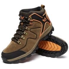 Beli Pria Tinggi Tahan Air Non Slip Sepatu Hiking Outdoor Climbing Shoes Hiking Boots Intl