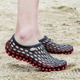 Men S Hollow Sepatu Pull On Air Sepatu Beach Sepatu Wanita Hitam Merah Intl Tiongkok