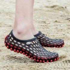 Spesifikasi Men S Hollow Sepatu Pull On Air Sepatu Beach Sepatu Wanita Hitam Merah Intl Terbaik