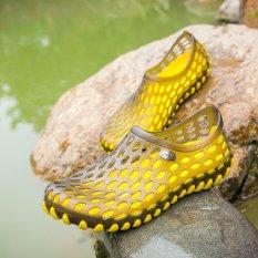 Harga Men S Hollow Sepatu Pull On Air Sepatu Beach Sepatu Wanita Kuning Hitam Intl Baru Murah