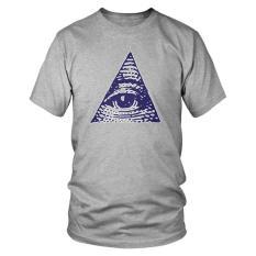 Toko Mens Illuminati All Seeing Eye T Shirt Cotton T Shirts For Men Di Jawa Barat