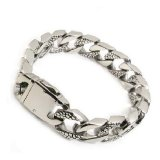 Beli Men S Jewelry Exclusive Men Bracelet Titanium Steel Gelang Pria Silver Baru