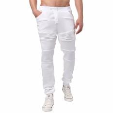 Beli Tari Pakaian Olah Raga Pria Baju Celana Harem Celana Celana Panjang Yang Longgar Putih International Dengan Kartu Kredit