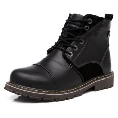 Ulasan Lengkap Pria Sepatu Kulit Asli Sepatu Bot Sepatu Kerja Luar Ruangan Sepatu Bot Tentara Martin Boots Hitam