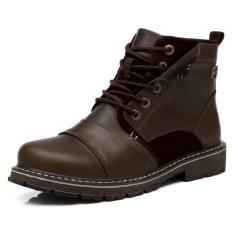 Jual Pria Sepatu Kulit Asli Sepatu Bot Sepatu Kerja Luar Ruangan Sepatu Bot Tentara Martin Boots Coklat Di Bawah Harga