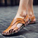 Jual Beli Kulit Sandal Sepatu Kasual Pria Sepatu Pantai Sepatu Musim Panas Intl Tiongkok