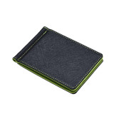 Beli Mens Leather Silver Money Clip Slim Wallets Black Id Credit Card Holder Green