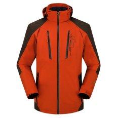 Harga Pria Ringan Tipis Hooded Outdoor Waterproof Hiking Camping Bersepeda Plus Ukuran Jaket Merah Seken