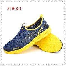 Beli Pria Mesh Kasual Mode Sepatu Sepatu Watersport Sepatu Aiwoqi Intl Intl Nyicil