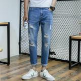 Toko Pria Mid Peninggi Pergelangan Kaki Reguler Panjang Harem Pants Fashion Jean Dengan Ripped Intl Small Wow Di Tiongkok