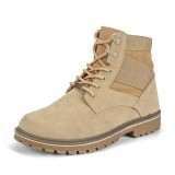 Spesifikasi Mens Military Boots Top Quality Men Classic Canvas Martin Boots Waterproof Ankle Shoes Fashion Breathable Boots Intl Merk Oem