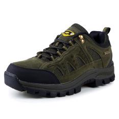 Jual Pria Moab Ventilator Hiking Sepatu Hijau Army Satu Set