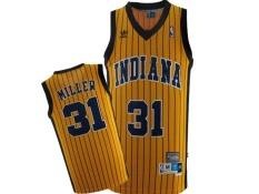 Review Pada Pria Nba Indiana Pacers 31 Reggie Miller Swingman Basket Jersey Emas Intl