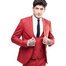 Jual Mens Of Glamour Setelan Celana Jas Plus Vest Cocok Untuk Segala Moment Red Antik