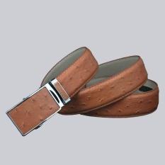 Men's Quality Ostrich Grain Sabuk Kulit Asli Luxury Designer Fashion Vintage Gesper Otomatis Men Belt SD008-Intl