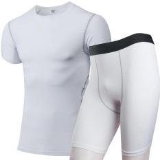 Pria Cepat Kering Menjalankan Gym Setelan Celana Ketat Kebugaran Binaraga Sport Bersumpah Kompresi Setelan Olahraga Gym