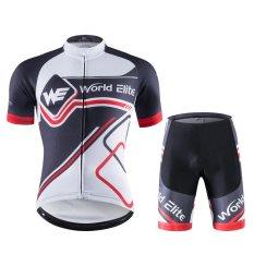 Review Men S Riding Pakaian Pendek Bersepeda Baju Lengan Pendek Wicking Kecepatan Kering Pakaian Hitam 6004 Intl