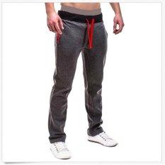 Beli Pria S 3Xl Casual Pants Training Olahraga Gym Joggers Celana Dark Grey Tiongkok