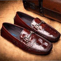 Harga Sepatu Pria Casual Sepatu Pria Lapisan Atas Sepatu Kulit Cokelat Intl Oem Terbaik