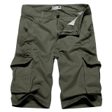Beli Mens Shorts Charmkpr Haid Haid Warna Solid Panas Musim Pants Bang Pendek Kargo Hijau Tentara International Di Tiongkok