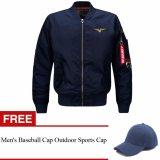 Beli Penerbangan Kerah Jaket Gratis Bisbol Cap Hat Intl Mens Solid Online Terpercaya