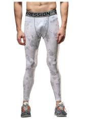 Promo Toko Mens Sport Legging Kompresi Lapisan Dasar Celana Panjang Camo Celana Intl