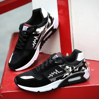 Harga preferensial Pria Sepatu Olahraga Pria Sepatu Basket Fashion Renda-Up  Sneaker (Hitam Putih c3f8599091