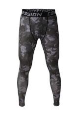Promo Toko Pria Olahraga Tights Menjalankan Kompresi Celana Gray Line Legging Binaraga Dan Kebugaran Olahraga Intl