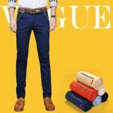 Diskon Jimzivi Pria Musim Panas Bisnis Casual Slim Fit Elastis Warna Murni Celana Celana Biru Intl Jimzivi Hong Kong Sar Tiongkok