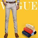 Jual Jimzivi Pria Musim Panas Bisnis Casual Slim Fit Elastis Warna Murni Celana Celana Putih Pucat International Jimzivi Murah