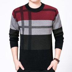 Jual Pria Sweater Cashmere Sweater Sweater Biru Tua Intl Murah Di Tiongkok