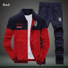 Beli Sweater Pria Kostum 2017 Autumn Merek Pria Tracksuits Set Jogger Jaket Olahraga Celana Hip Hop Suit Sweater Merah Intl Not Available Na