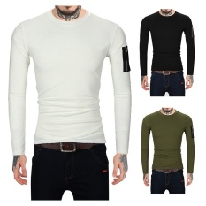 Men's T-shirt Long Sleeves Body Clothes Men's Clothing 2017 Autumn New Youth T-shirt Bottoming Tide Tide - intl