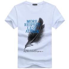 Pria T-shirt Plus Ukuran 5XL Tee Shirt Homme Musim Panas Pria Lengan Pendek T Kemeja Pria Kaos Camiseta Tshirt-Intl