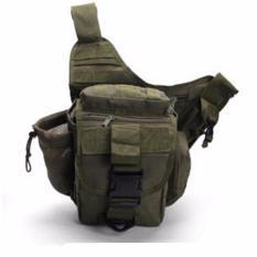 Harga Mens Tactical Fashion Bag Impor Tas Slempang 249 Army Pria Cowo Bag Tempat Botol Minum Hijau Army Paling Murah