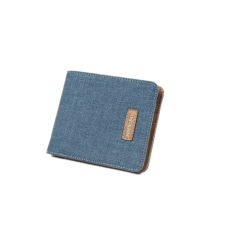 Toko Laki Laki Kurus Kanvas Mini Standar Dompet Kartu Biru Lengkap