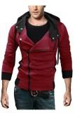 Daftar Harga Pria Berkerudung Tipis Miring Ritsleting Jaket Tipis Merah International Unbranded