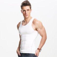 Katalog Rompi Pria Pelangsing Tubuh Pembentuk Singlet Gym Athletic Tank Top Putih Intl Xdian Terbaru