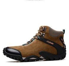 Men S Wear Resistant Bernapas Non Slip Lembut Bagian Bawahnya Nyaman Hiking Sepatu Intl Diskon Tiongkok