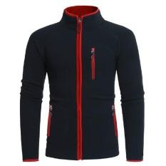 Pria Musim Gugur Musim Dingin Kutub Bulu Sweatshirt Atasan Jaket Mantel Lebih Tahan DR-Internasional