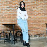 Jual Meow Jeans Celana Jeans Cewek Di Indonesia