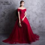 Harga Merah Baru Musim Dingin Gaun Pengantin Baju Pelayanan Merah Oem
