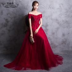Toko Merah Baru Musim Dingin Gaun Pengantin Baju Pelayanan Merah Lengkap Di Tiongkok